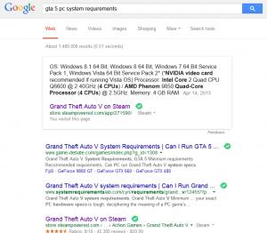 Google GTA V Sys Req