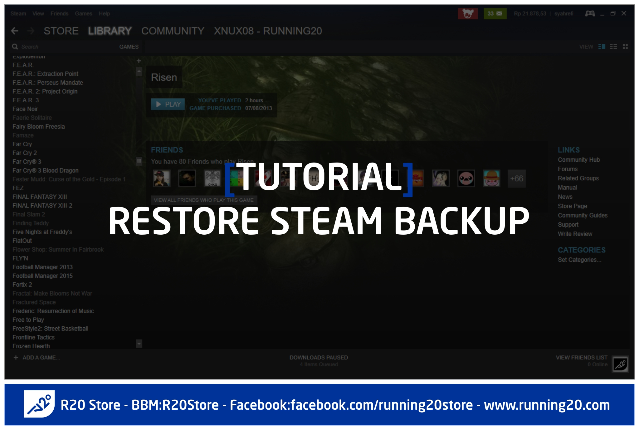 Tutorial Restore Steam Backup
