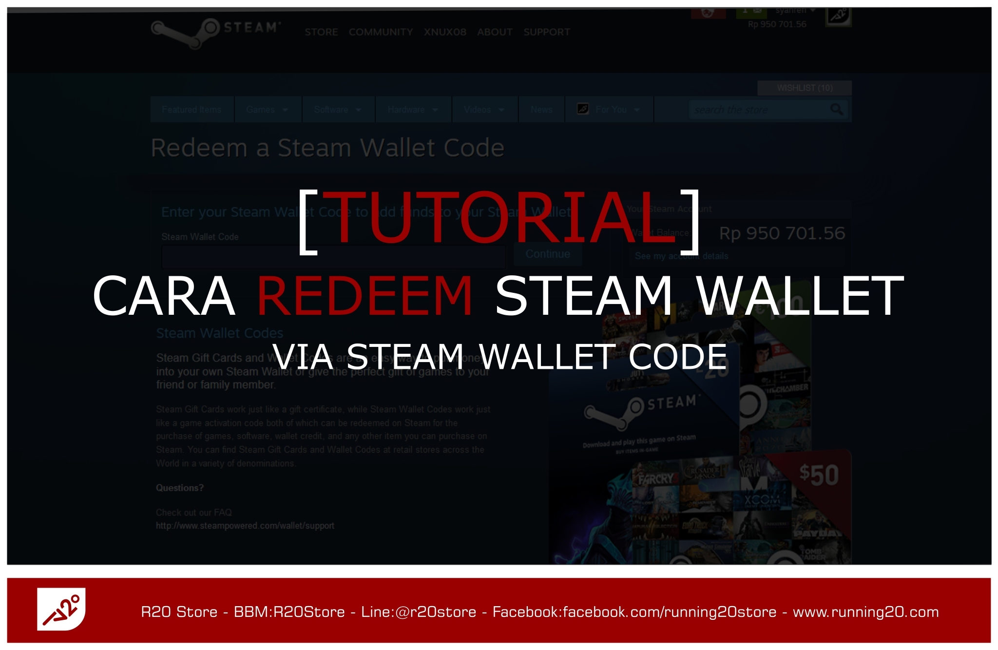 [Tutorial] Cara Redeem Steam Wallet Code