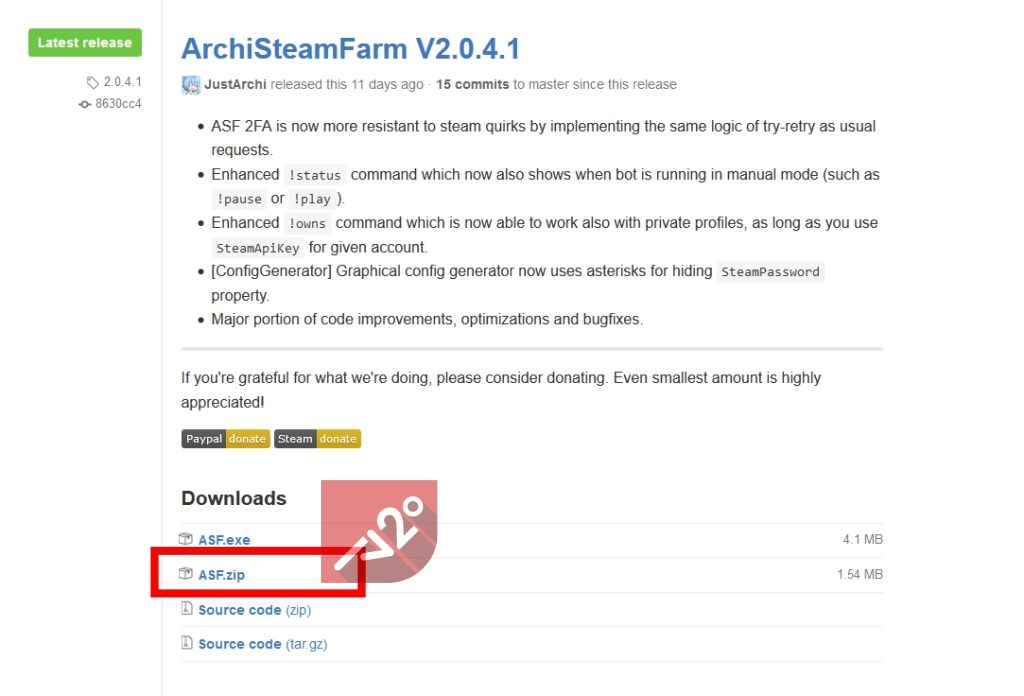 ArchiSteamFarm Download Link