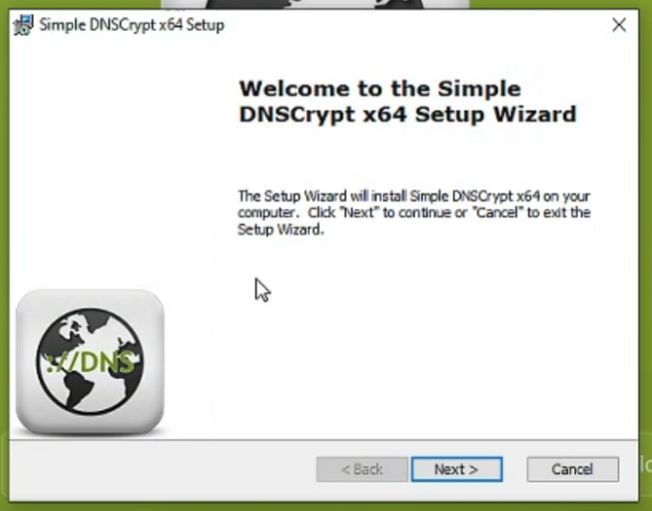 Launcher Installer Simple DNSCrypt