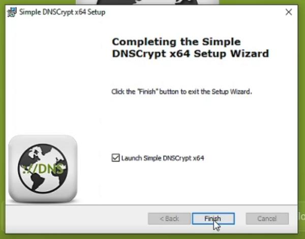 Tampilan Selesai Install Simple DNSCrypt