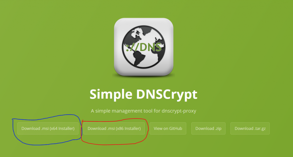 Tampilan Web Simple DNSCrypt