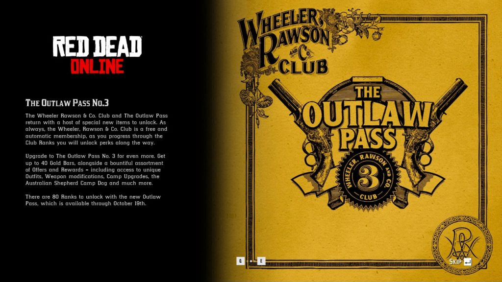 Red Dead Outlaw Pass 3