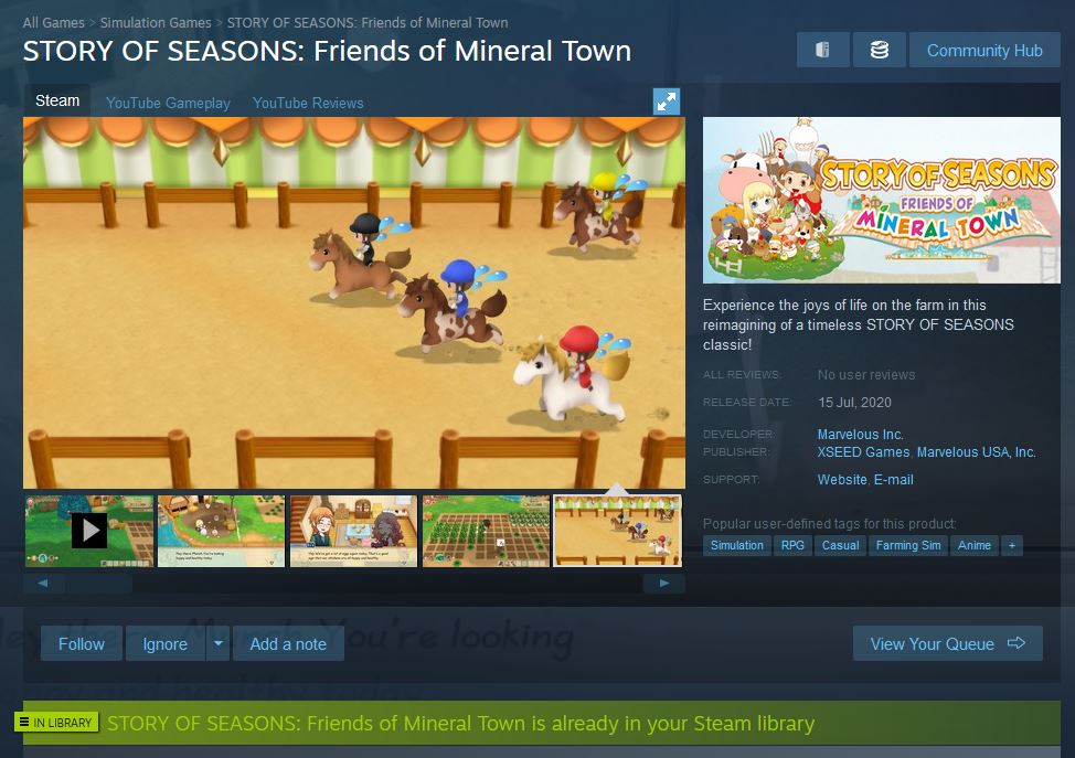 Sudah Pre-Purchase Story of Seasons