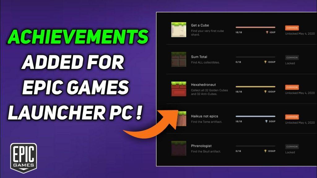 Feature Baru Epic Games Store - Achievement