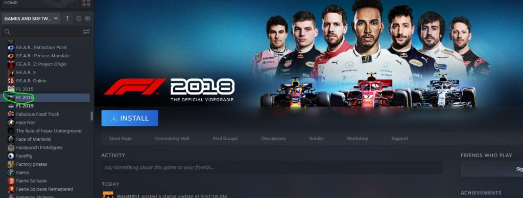 Steam F1 2018 Gratis