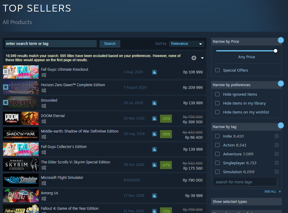 Fall Guys, Top Seller Steam