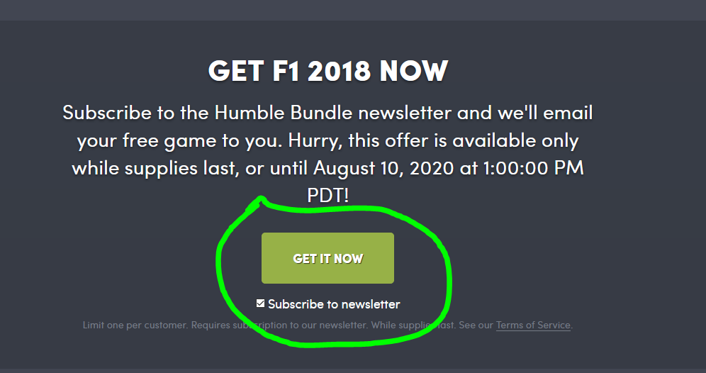 F1 2018 Steam Gratis Humble Bundle